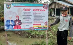 Ini Cara Pemerintah Desa Bangun Harja Cegah Penyebaran Virus Corona