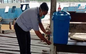 Dishub Pulang Pisau Sediakan Fasilitas Cuci Tangan di Sejumlah Feri