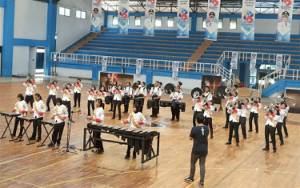 Bupati Kapuas Apresiasi Drum Corps Gema Swara Spensa Juara 1 pada Borneo Marching Day