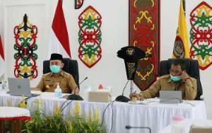 Rapat Koordinasi Penanggulangan Covid-19, Gubernur Kalteng Minta Forkopimda Gerak Cepat