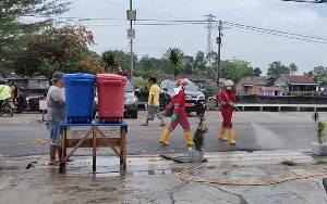Pemkab Sukamara Apresiasi Kegiatan Penyemprotan Disinfektan