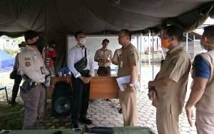 Satgas Gakkum Polres Kapuas Sambangi Posko Induk Satgas Penanganan Covid-19