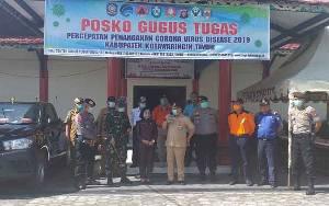 Polres Kotim Lakukan Operasi Aman Nusa II Penyemprotan Disinfektan di Perkotaan