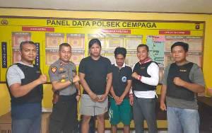 Anggota Polsek Cempaga Ringkus Pengedar Sabu di Areal Perusahaan Sawit