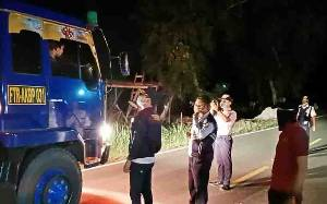 Razia Kendaraan, Dinas Perhubungan Palangka Raya Pulangkan Truk Kontainer Plat Luar Kalimantan