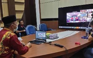 Pemkab Sukamara Ikuti Video Conference Bersama Kemendagri Bahas Penanggulangan Covid-19