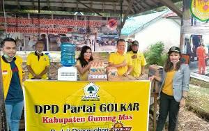 Golkar Gunung Mas Salurkan Bantuan Tenaga Medis di Posko Pencegahan Covid-19