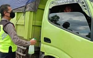 Polisi Imbau Sopir Angkutan Terapkan Perilaku Hidup Bersih dan Sehat Cegah Covid-19