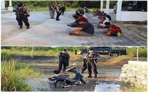 Remaja Masuk Parit saat Dikejar Polisi