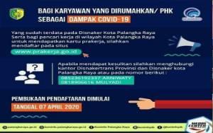 Pendaftaran Kartu Pra Kerja di Palangka Raya Dilakukan Secara Online