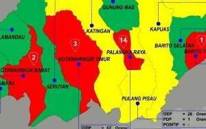 4 Wilayah Kalteng Zona Merah Peyebaran Covid-19