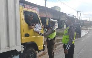 Kasat Lantas Polres Katingan Pimpin Sosialisasi Operasi Keselamatan Telabang 2020