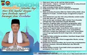 Kapolres Pulang Pisau Terbitkan Surat Edaran Jelang Ramadan