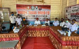 Bupati Kotawaringin Timur Sidak Kesiapan Posko Gugus Tugas Covid-19 Kecamatan Cempaga