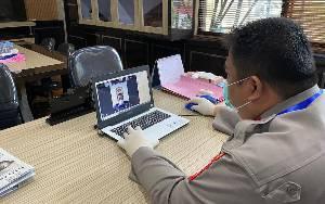 Kapolres Kotawaringin Timur Terapkan Physical Distancing, Rapat Bersama PJU dan Kapolsek Dilaksanakan Online