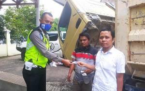 Pemohon STNK dan Pajak Disosialisasikan Operasi Keselamatan Telabang 2020 di Barito Utara