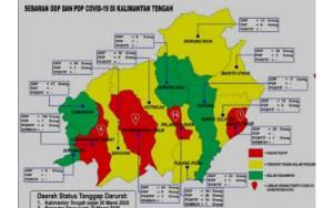Ini Sebaran ODP dan PDP Kabupaten/Kota se- Kalteng