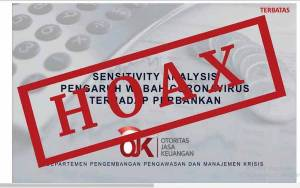 OJK: Analisis Kondisi Perbankan Akibat Covid-19 Hoax