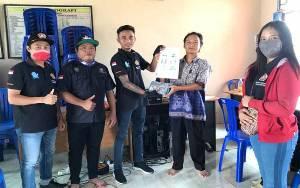 Karang Taruna Kecamatan Paku Bagi Masker di 12 Desa