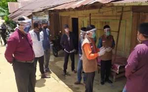 Wakil Bupati Murung Raya Bersama Gugus Tugas Covid-19 ke Desa Mangkahui