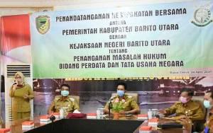 Pemkab Barito Utara Lakukan Penandatanganan MoU Bersama Kejaksaan Negeri