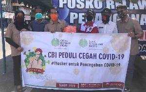 CBI Group Bagikan Masker Kain untuk Masyarakat
