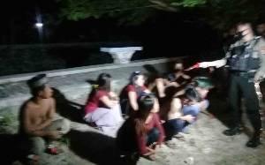 Bernyanyi Hingga Larut Malam, Puluhan Remaja Diamankan