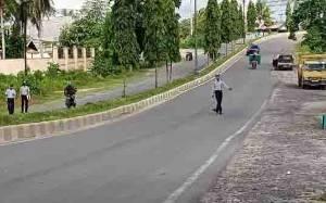 Dinas Perhubungan Kotawaringin Barat Laksanakan Survey Traffic Counting Jalan Ahmad Yani