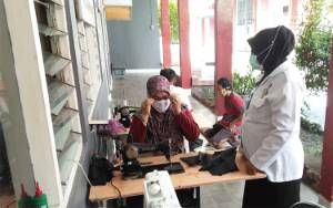 Lapas Pangkalan Bun?Berdayakan Warga Binaan Bantu Penuhi Kebutuhan Masker
