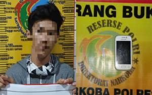 Pemuda Bawa Sabu Diamankan Satresnarkoba Polres Kapuas
