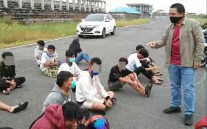 Polisi Kembali Amankan Puluhan Pembalap Liar di Sirkuit Sabaru