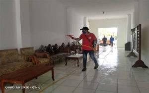 Kuda Mata Semprot Disinfektan di Kota Kuala Kurun Cegah Covid-19
