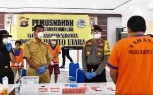 Wakil Bupati Barito Utara Apresiasi Kinerja Polri Memberantas Narkoba