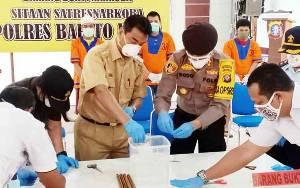 Polres Barito Utara Musnahkan 10,25 Gram Sabu