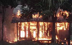 Rumah di Kelurahan Baru Terbakar karena Korsleting Listrik
