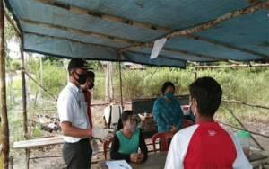 Pemerintah Kecamatan Timpah Pantau Langkah Pencegahan Covid-19 di Desa