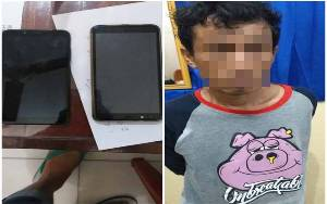 Pemuda asal Mendawai Ditangkap karena Mencuri 3 Telepon Seluler
