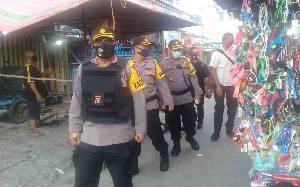 Kapolresta Palangka Raya Cek Penerapan PSBB di Pasar Besar