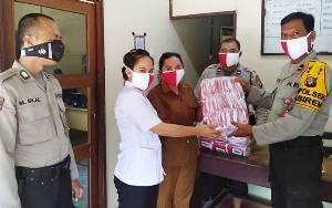 Polsek Jabiren Raya Bagikan 3.000 Masker