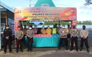 Polres Seruyan Dirikan Kedai Gawi Hatantiring untuk Pelayanan Berbuka Puasa