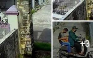 Pencuri Helm di Palangka Raya Terekam CCTV
