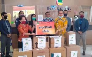 Pemkab Gunung Mas Terima APD Dari Bank Kalteng Cabang Kuala Kurun