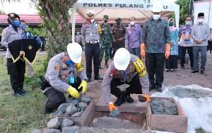 Kapolda Kalteng Resmikan Pembangunan Aula Polres Pulang Pisau