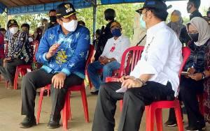 Bupati Pulang Pisau Sambut Kedatangan Menteri Pertanian