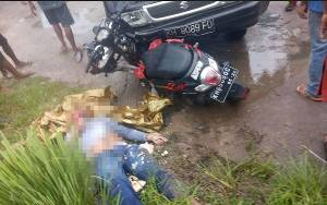 Pikap Tabrak Motor di Jalan Jendral Sudirman Sampit, Seorang Penumpang Tewas