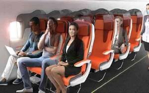 Desain Baru Kursi Penumpang Pesawat Cegah Penularan Virus Corona