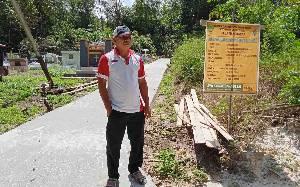 Pemerintah Desa Mangkarap Barito Timur Libatkan Warga Dalam Pembangunan Jalan