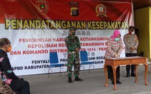 Pemkab Kotawaringin Barat Gandeng TNI Polri untuk Penyaluran Bantuan Sosial