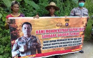 Polsek Kahayan Kuala Mulai Sosialisasikan Pencegahan Kebakaran Hutan dan Lahan