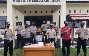 Pria Paruh Baya Pengedar Sabu di Katingan Kuala Ini Diamankan Polisi